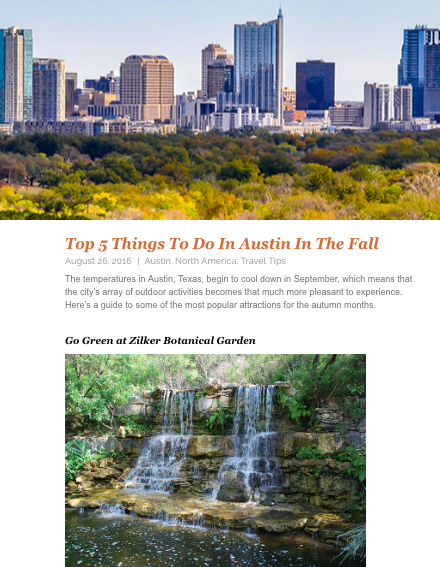 Top Things To Do In Austin In The FallIHG Hotels - 11 things to see and do in austin texas