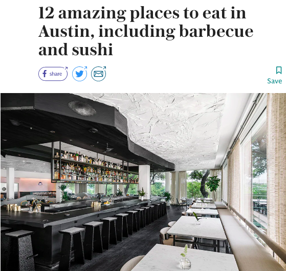 Best Restaurants In Austin The Telegraph Shelley Seale